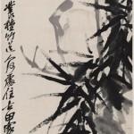 吴昌硕作画,处处都是书法