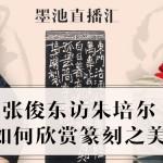 【墨池直播汇】张俊东访朱培尔 如何欣赏篆刻之美
